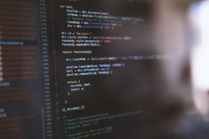 パソコン画面のプログラムコード