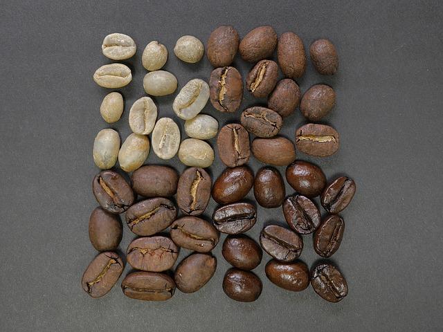 色の違うコーヒー豆