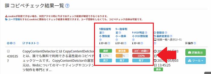 CopyContentDetectorのテキスト間判定の異常値