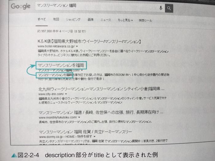 ディスクリプションがタイトルに使われた実例