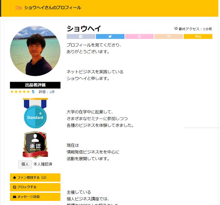 スキルクラウド ユーザープロフィールページ