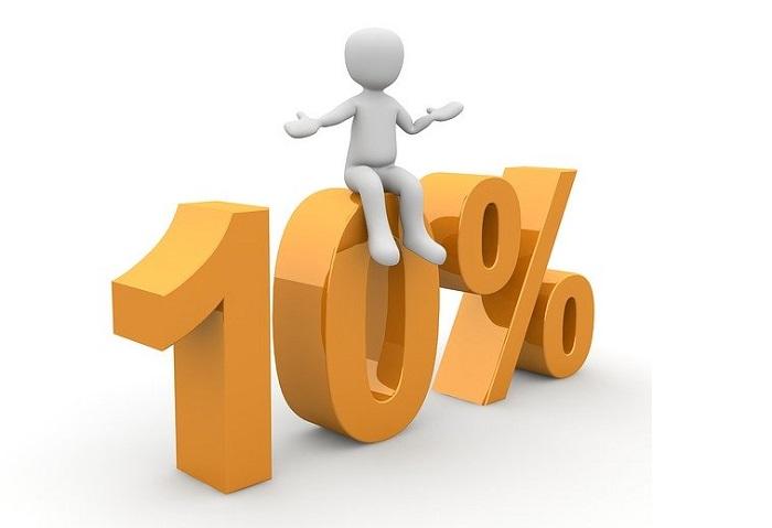 10パーセント