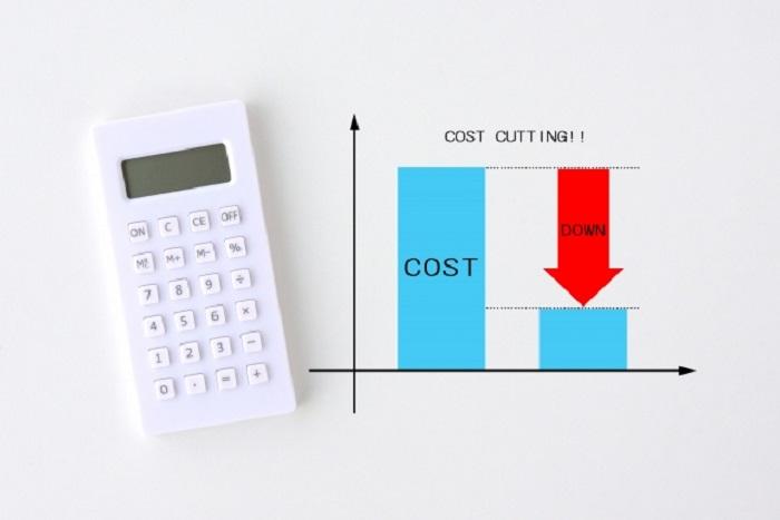 コストダウンのグラフと計算機
